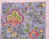 "Handpainted needlepoint canvas kit, size 9x8in. 18pt mesh. Yarn and needle included.""Tapestry"""