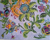 Floral needlepoint kit, 18pt mesh, all handpainted, size 8x9