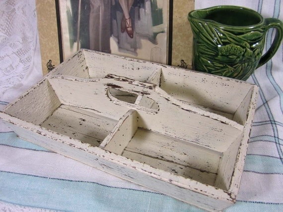 Primitive wood Tray - Up-cycled distress finish