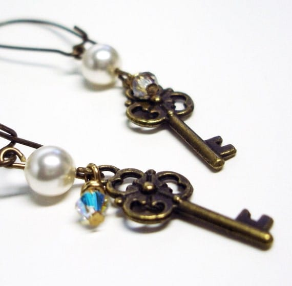 KEY CHARM Earrings