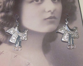 Vintage Silver Saddle Hook Earrings