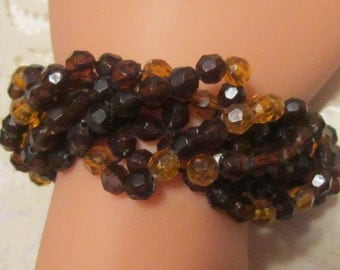 Vintage Crystal Beaded Bracelet