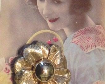 Vintage Gold Flower Brooch