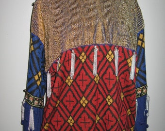 Spectacular 1-of-a-kind Jean Paul Gaulthier embellished sweater from the 1980's