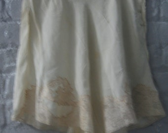 Ivory vintage underpants with lace insets in the front from the 1930's or 1940's