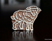 Hand Carved Indian Wood Textile Stamp Block- Lamb