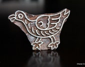 Hand Carved Indian Wood Textile Stamp Block- Duck