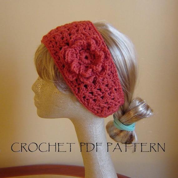 PDF Boho Style  Headband CROCHET PATTERN No 018