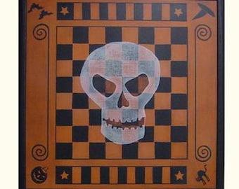 Halloween Skull Checkers Gameboard