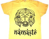 NAMASTE tshirt - Sun Yellow t shirt  Yoga graphic tee summer - alternative apparel -  Yoga - Men - Women - Small Medium Large XL