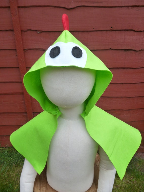 Super Mario Baby Yoshi cape poncho with hood dragon monster dinosaur Halloween