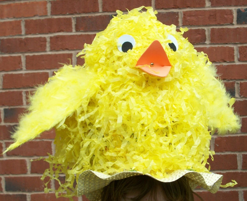 Easter Hat Bonnet Decorating Kit with Chick by SewCoolCreation