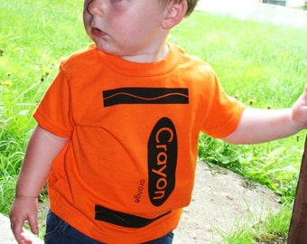 Crayon T Shirt in Orange