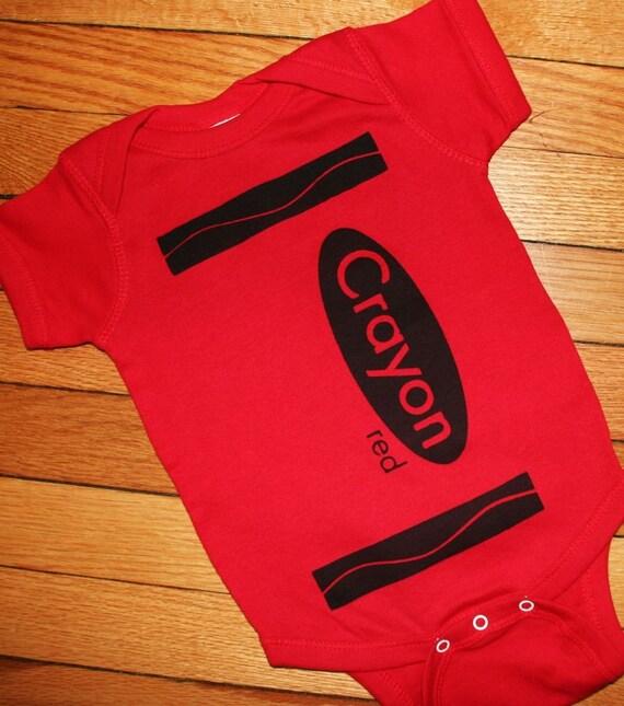 Red Crayon Onesie