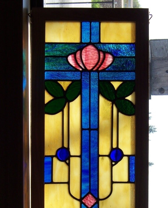 Arts and Crafts Style Stained Glass Window