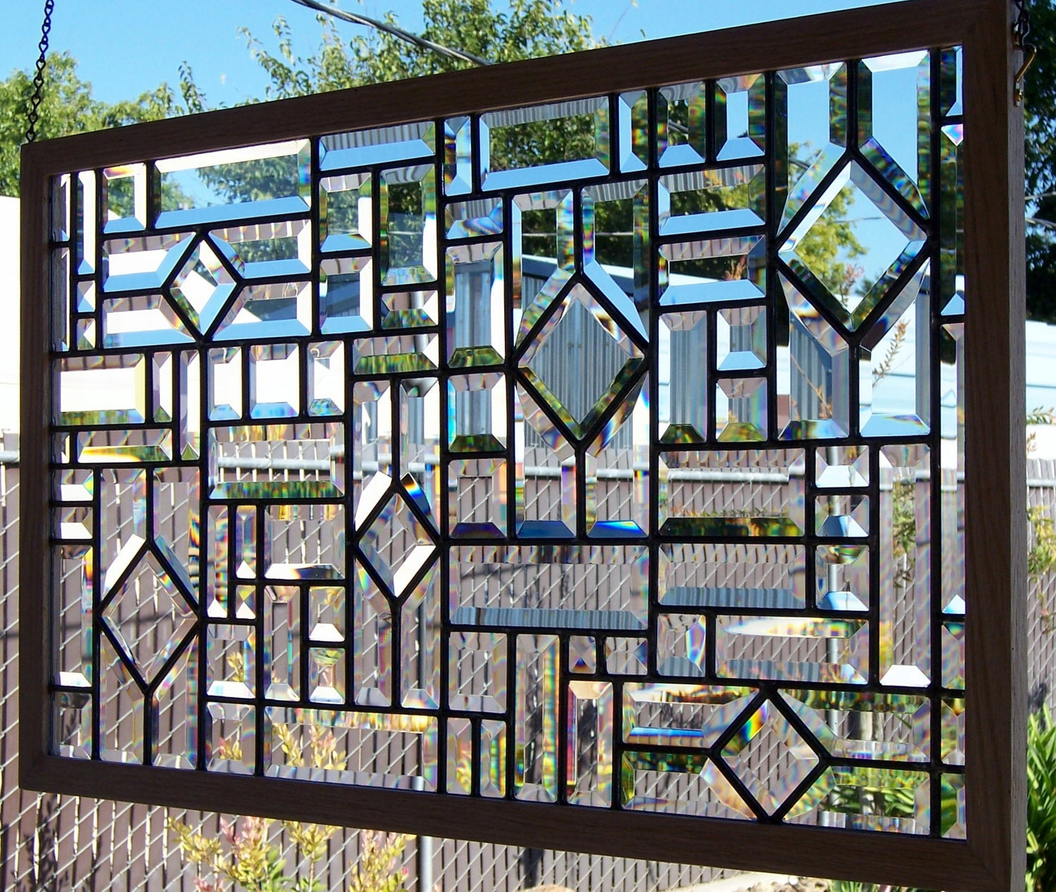 Beveled Stained Glass Window