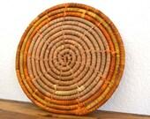 70s Retro Circle Woven Straw Trivet