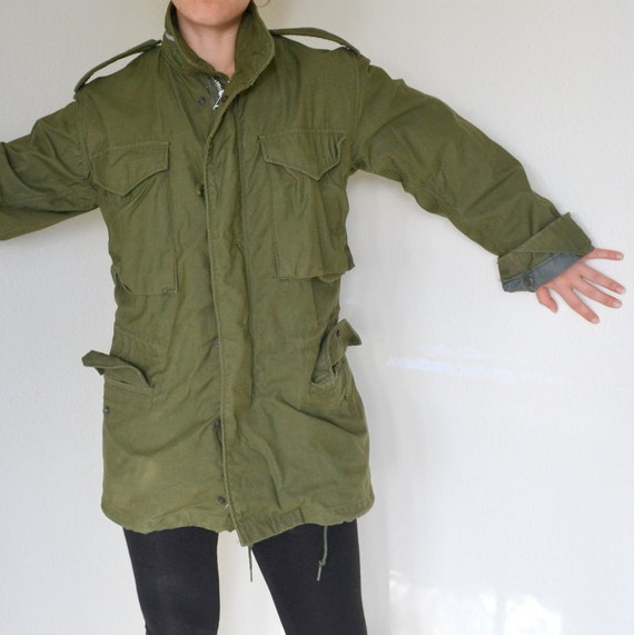 Womens Olive Green Military Jacket
