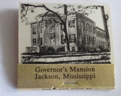 Vintage Book of Matches of the Miss. Gov. William Winter-- Governor's Mansion from the 1980s