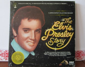 """Vintage 1977 RCA, """"The Elvis Presley Story"""" limited edition, box set,  vinyl record collection."""