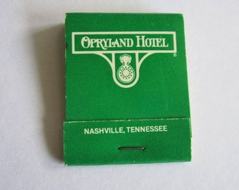 Vintage book of Matches from Opryland Hotel of Nashville, Tennessee