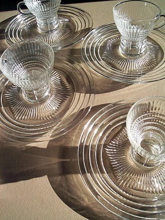 RESERVED for Linda :) Vintage Safe Serv Glass Serving Set