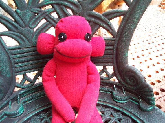 Cherry, The Bright Red Sock Monkey