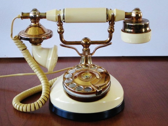 Vintage Rotary Dial French Style Telephone-- From TT Systems, Model 900