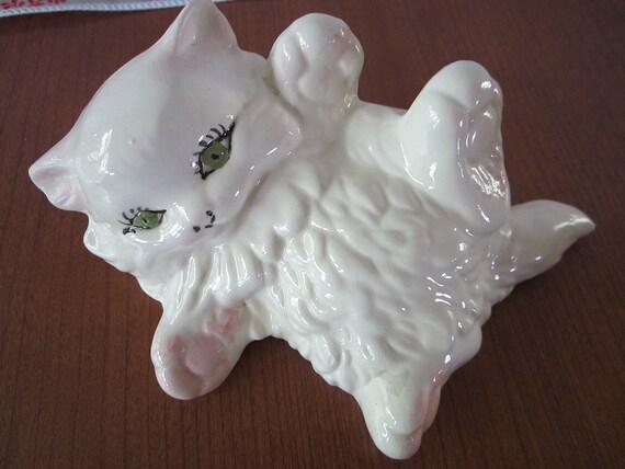 Small White, Green Eyed Playful Persian Kitten
