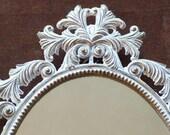 Antiqued Italian Made Metal Framed Mirror