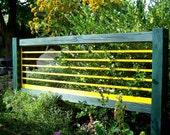 Spring Sale Garden Screen, Garden Art, Garden Decor, Reclaimed Steel and Cedar