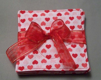 Fabric Coaster For Your Love, Valentine Themed Fabric Coasters
