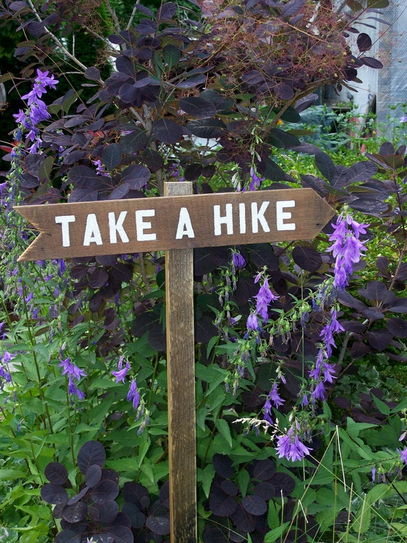 """Hand Painted Sign """"Take A Hike"""" Arrow, Trail Sign, Multiple Style and Priced Trail Signs"""