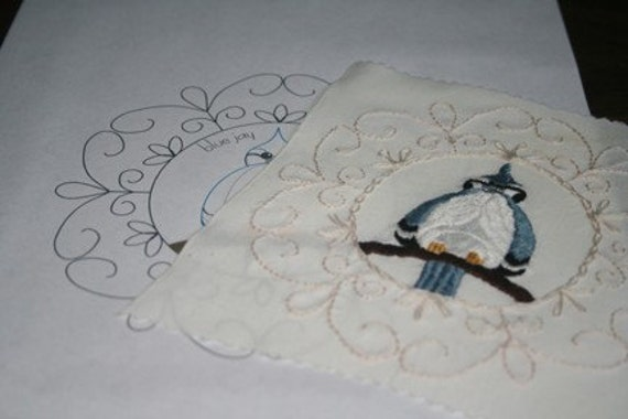 Blue Jay Embroidery Pattern PDF