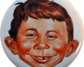 "Alfred E Neuman, Mad Magazine cute 1"" round button Nifty Button (#58)"