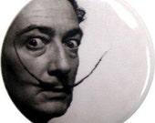 "Salvadore Dali pinback button or fridge magnet - 1"" round"