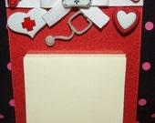 Nurse Acrylic Magnetic Post It Note Holder