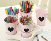 12 Get Organized Heart Chalkboard / Blackboard Labels