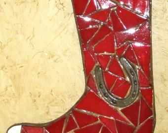 Mosaic Boot Wall Hanging