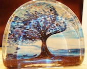 """Painting """" Blue Autumn Breeze Sweeping Away the Summer"""" copy of painting paper weight"""