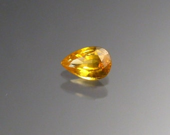 Golden Sapphire pear shaped loose stone.