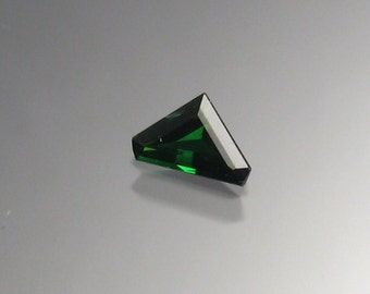 Chrome green Tourmaline triangle cut gemstone
