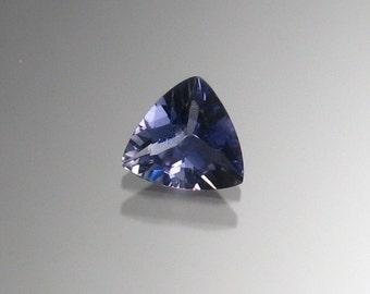 Iolite trillion cut gemstone 7x7 mm