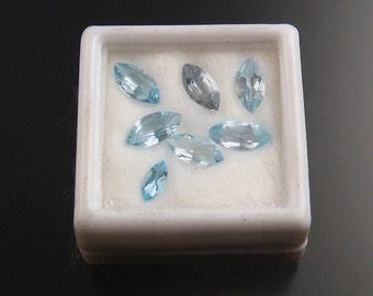 Blue Topaz Marquise Parcel, Faceted stones
