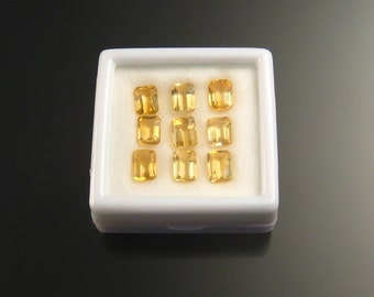 Faceted Citrine rectangles, 5x7 mm, Parcel 2