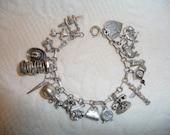 1950s Sterling Charm Bracelet