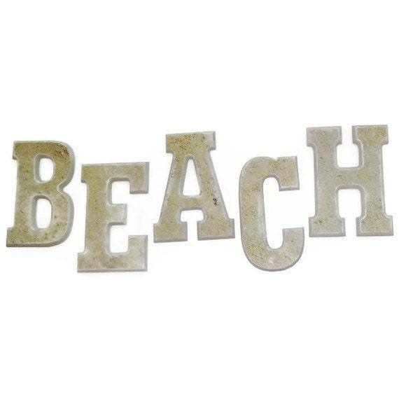 Items similar to beach house decor wall letters on etsy for Beachy decor items