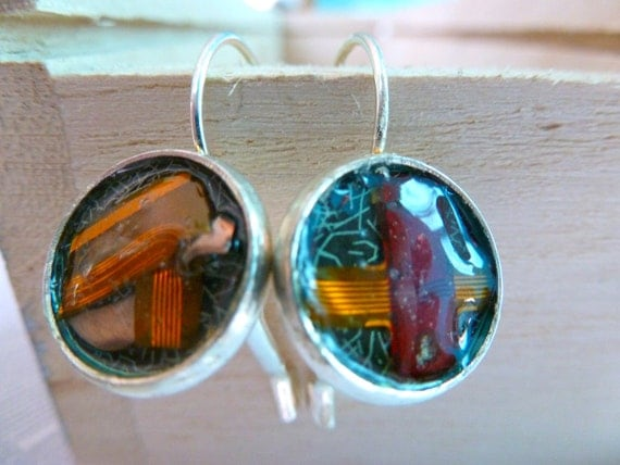 Camera Earrings Upcycled Camera Parts Geek Gift