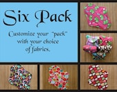 Custom 6 Pack - Handmade Reusable Mama Pad (Heavy Flow) with Zorb and PUL