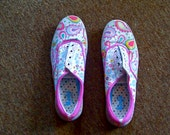 Hand Drawn Sneakers Size 8.5 US Womens
